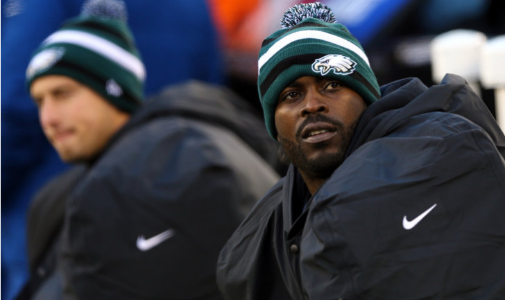 michael vick eagles bench
