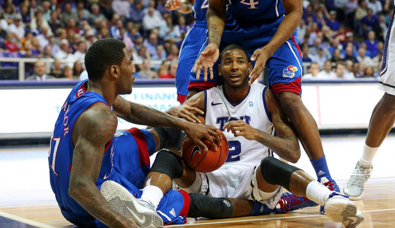 tcu vs kansas 2013 college basketball ncaa